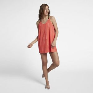 Hurley Coastal Slip Dress Coral Size Large